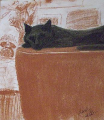 cat drawing by L.E. Mastilock