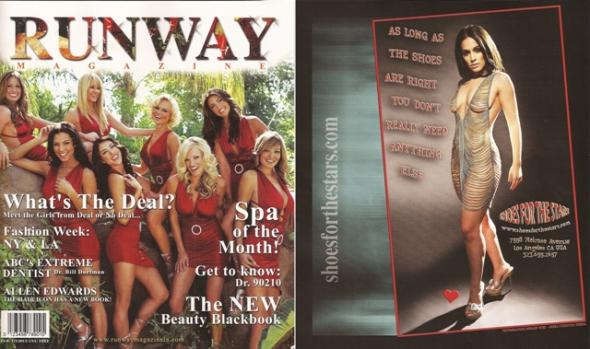 Christina DeRosa First Runaway Magazine Shoes For The Stars Ad 2008